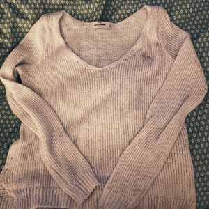 White sparkle Abercrombie Kids sweater